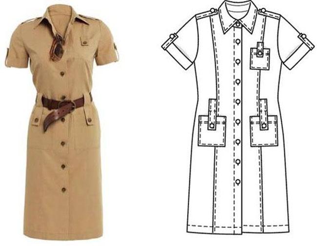 Платья сафари пользуются огромной популярностью благодаря своему Какие же они, модные платья сафари 2013 года