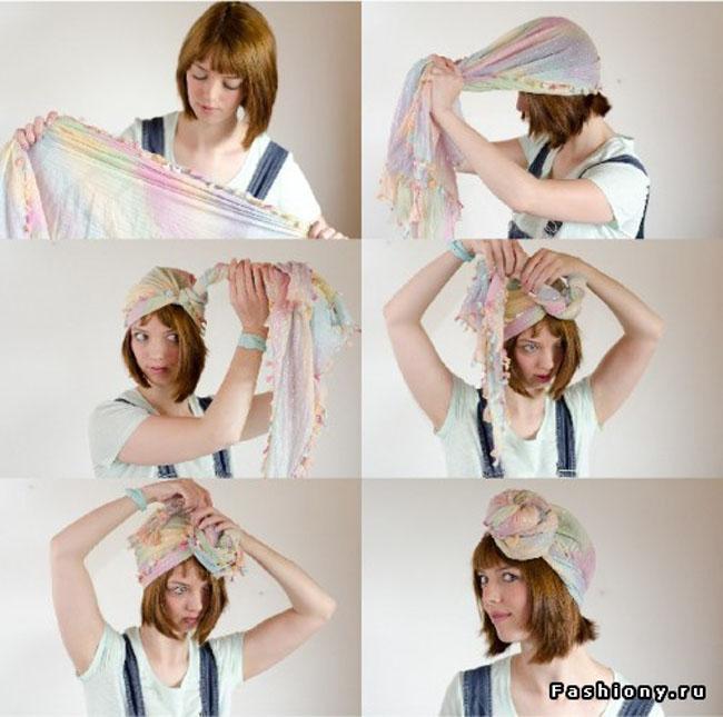 Как сделать шарф тюрбан 19