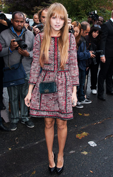 PARIS, FRANCE - OCTOBER 02: Laura Hayden arrives at the Chanel Spring / Summer 2013 show as part of Paris Fashion Week at Grand Palais on October 2, 2012 in Paris, France. (Photo by Francois Durand/Getty Images)
