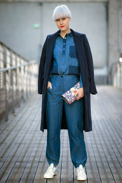 PARIS, FRANCE - MARCH 02: Linda Tol seen outside the Kenzo show on March 2, 2014 in Paris, France. (Photo by Timur Emek/Getty Images)