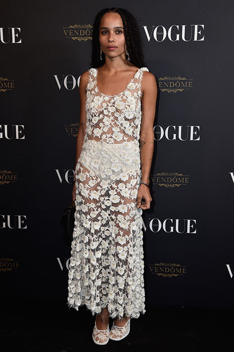PARIS, FRANCE - OCTOBER 03: Zoe Kravitz attends the Vogue 95th Anniversary Party on October 3, 2015 in Paris, France.  (Photo by Pascal Le Segretain/Getty Images for Vogue)