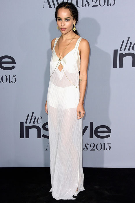 LOS ANGELES, CA - OCTOBER 26:  Honoree Zoe Kravitz attends the InStyle Awards at Getty Center on October 26, 2015 in Los Angeles, California.  (Photo by Frazer Harrison/Getty Images)
