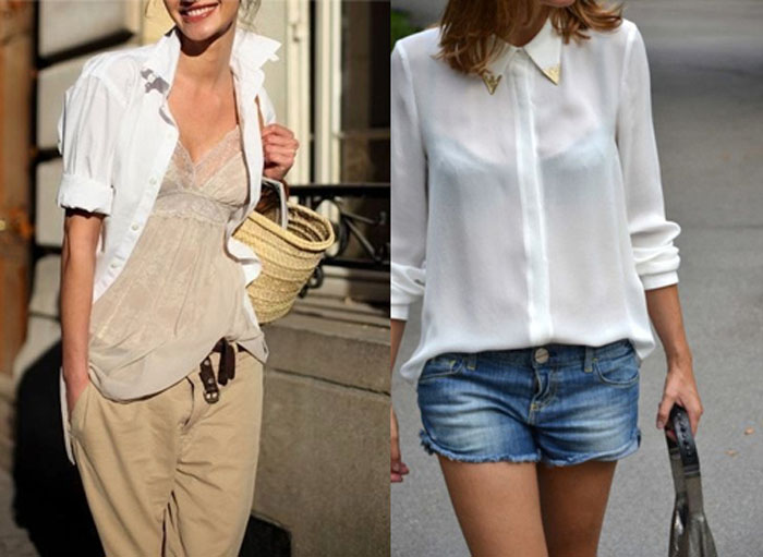 Как носить прозрачную рубашку