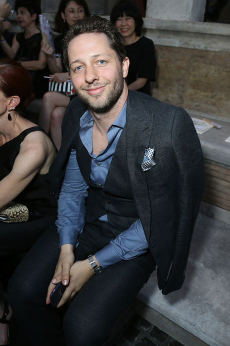 ROME, ITALY - JULY 07: Derek Blasberg attends the Fendi Roma 90 Years Anniversary fashion show at Fontana di Trevi on July 7, 2016 in Rome, Italy. (Photo by Victor Boyko/Getty Images for FENDI)