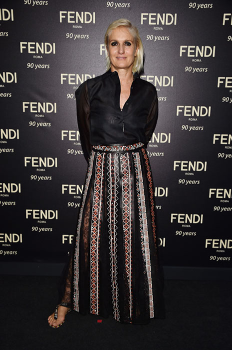 ROME, ITALY - JULY 07: Maria Grazia Chiuri attends the Fendi Roma 90 Years Anniversary Welcome Cocktail at Palazzo Carpegna on July 7, 2016 in Rome, Italy. (Photo by Stefania D'Alessandro/Getty Images for FENDI)