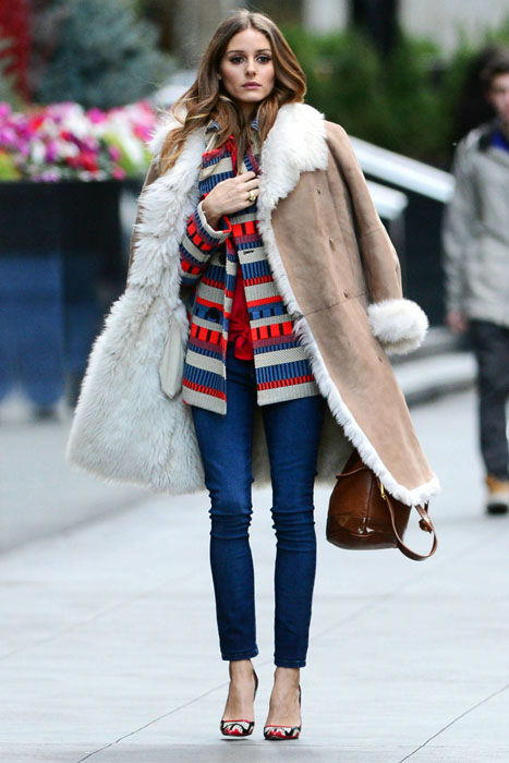 Olivia Palermo fashion photo shoot in New York City