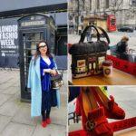лук для раннего утра на неделе моды в Лондоне