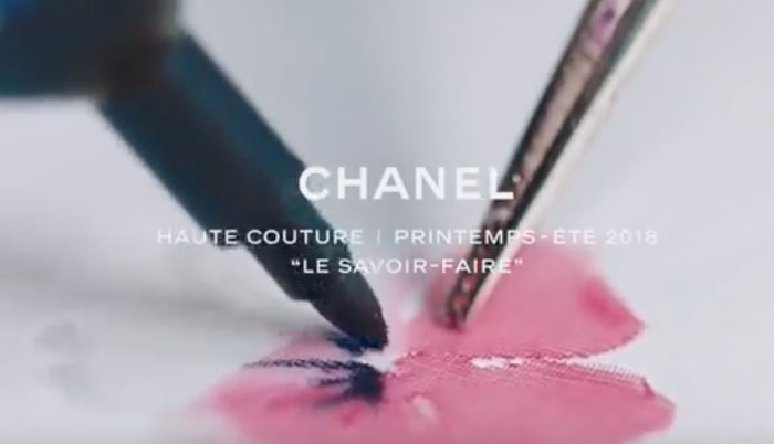 как создавалась коллекция chanel haute couture весна лето 2018